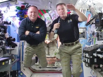 """NASA astronauts Barry E. """"Butch"""" Wilmore and Terry Virts will speak to students from aboard the International Space Station."""